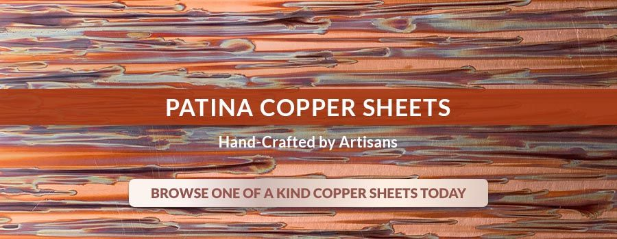 Patina Copper Sheets - Hand-Crafted by Artisans