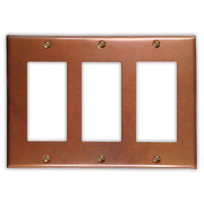 3-Rocker Copper Switch Plate