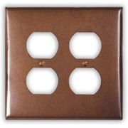 2-Outlet Copper Wallplate Cover
