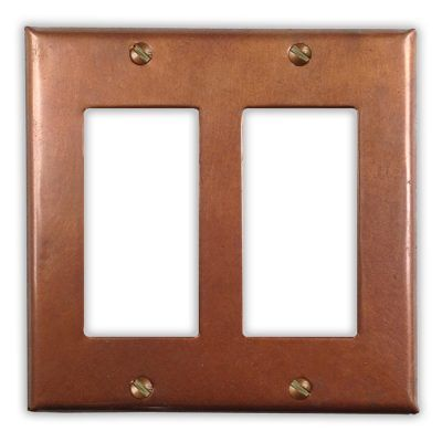 2-Rocker Copper Switch Plate