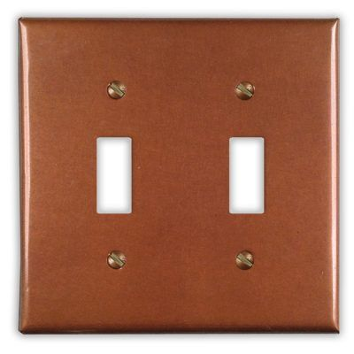 2-Toggle Copper Switch Plate