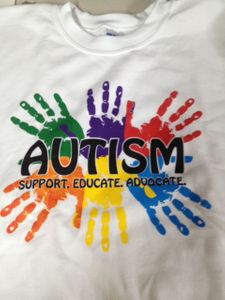 "Adult Size Autism ""Support - Educate - Advocate"" Sweatshirts"