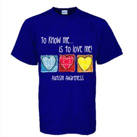 "Adult Size Autism ""To Know Me Is To Love Me"" T-Shirt"