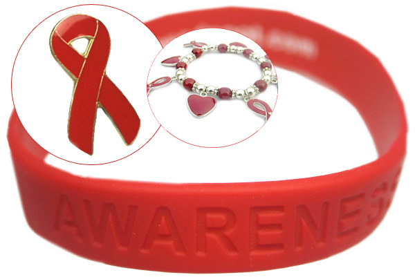 AIDS Awareness Month Red Pin Special! 100 Red Pins + free