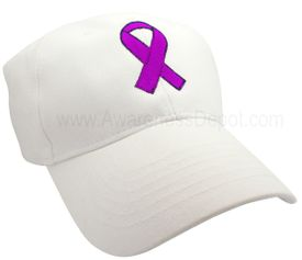 Alzheimer's Awareness Ribbon Hat