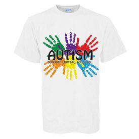 """Autism Awareness Adult Shirt """"Support, Educate, Advocate"""""""