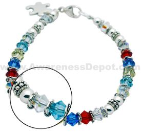 Autism Awareness Bracelet: Lobster clasp 12