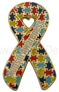 Autism Awareness Die Struck Pin