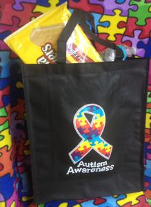 Autism Awareness Grocery Tote Bag