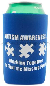 Autism Awareness Koozie: Autism Working Together to Find the Missing Piece