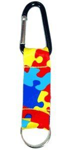 Autism Awareness Puzzle Piece Short Lanyard