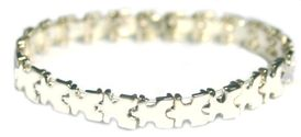 Autism Awareness Puzzle Piece Stretch Bracelet