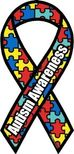 "Autism Awareness Ribbon Magnet Large 4""x8"""