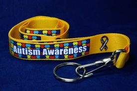 Autism Awareness Yellow Lanyard