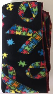 Autism Classic Blanket - black with ribbons