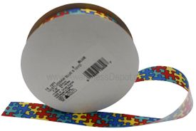 Autism Jigsaw Ribbon Spool