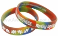Youth size Autism Rainbow Bracelet