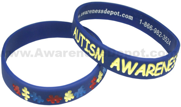 Autism Silicone Bracelet In Youth Or Size