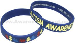 Autism Silicone Bracelet in Youth or Adult Size!