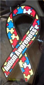 "Autism Static Cling Decal Large 3""x6"""