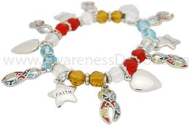 Autism Stretch Charm Bracelet - Faith