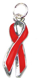 Awareness Ribbon Charm - Red