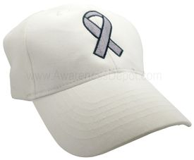 Awareness Ribbon Hat - Gray