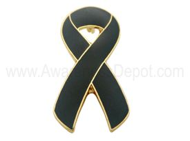 Awareness Ribbon Pin - Black