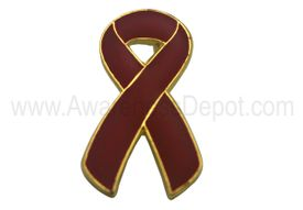 Awareness Ribbon Pin - Burgundy
