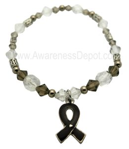 Black Awareness Stretch Bracelet