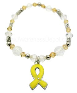 Bladder Cancer Awareness Stretch Beaded Bracelet