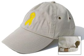 Bladder Cancer Ribbon Cap Khaki