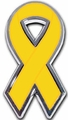 Bladder Cancer Ribbon Chrome Auto Emblem