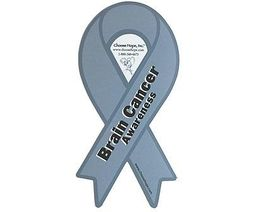 "Brain Cancer Awareness Magnet 8"" 2 in 1 magnet"