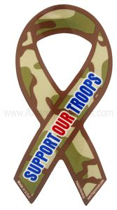"Cameo Support Our Troops Magnet Large 4""x8"""