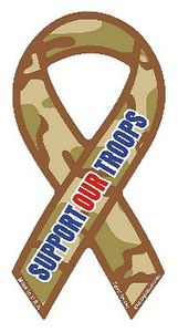 """Cameo Support Our Troops Magnet Small 2""""x4"""""""