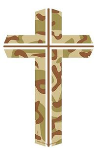 "Camouflage Cross Magnet Large 4""x6"""