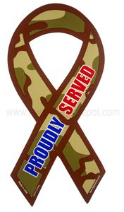"Camouflage Proudly Served Decal LG 3""x6"""