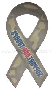 """Camouflage Support Our Troops Decals Large 3""""x6"""""""