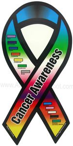 "Cancer Awareness Ribbon Magnets Large 4""x8"""