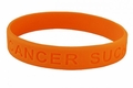 Cancer Sucks Bracelet - Orange