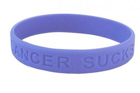Cancer Sucks Bracelet - Perwinkle