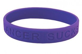 Cancer Sucks Bracelet - Purple
