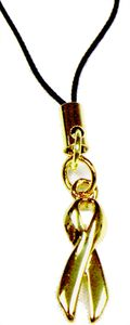 Childhood Cancer Awareness Cell Phone Charm - Gold