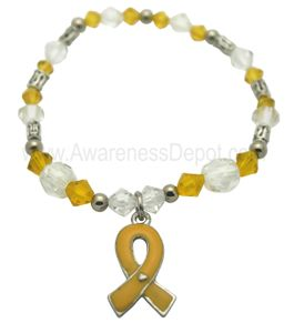 Childhood Cancer Awareness Stretch Beaded Bracelet