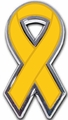 Childhood Cancer Ribbon Chrome Auto Emblem