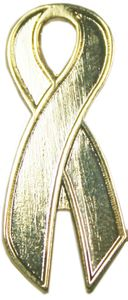 Childhood Cancer Ribbon Pin-Gold