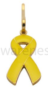 Childhood Cancer Ribbon Zipper Pin