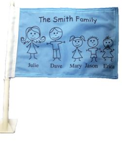 Custom Family Car Flag