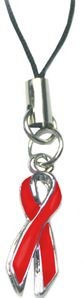 Diabetes Cell Phone Charm Strap - Red